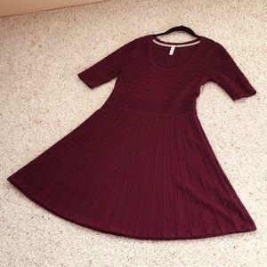 Xhilaration Maroon Skater Sweater Dress - Large